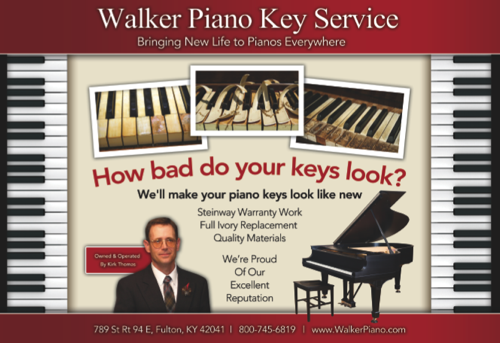 Walker Piano Key Restoration